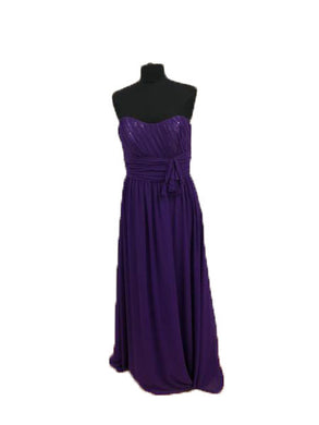 Alfred Angelo Size 12 Purple Formal Dress
