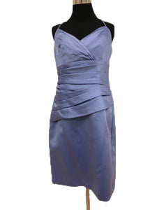 Alfred Angelo Size 12 Purple Rushing  Short Formal Dress