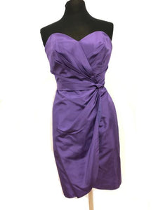 Alfred Angelo Size 12 Purple Short  Formal Dress
