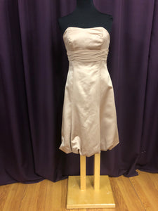 Alfred Angelo Size 12 Tan Short  Formal Dress