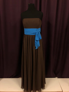 Alfred Angelo Size 18 Brown Belt  Formal Dress