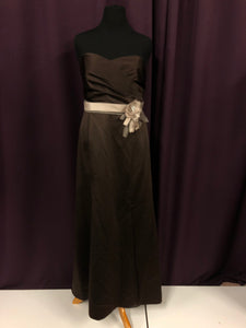 Alfred Angelo Size 18 Brown Long Strapless Formal Dress