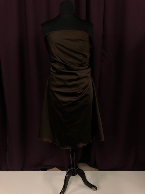 Alfred Angelo Size 18 Brown Short  Strapless Formal Dress