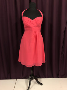 Alfred Angelo Size 18 Pink Halter Short Formal Dress