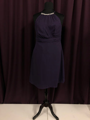 Alfred Angelo Size 18 Purple Rhinestone NEW Formal Dress