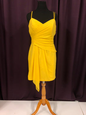 Alfred Angelo Size 18 Yellow Short  Formal Dress