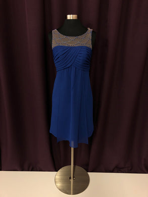 Alfred Angelo Size 2 Blue Bead Formal Dress