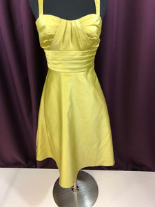 Alfred Angelo Size 2 Green Ruffle Formal Dress