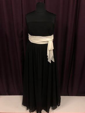 Alfred Angelo Size 20 Black Bow Formal Dress