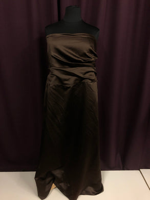 Alfred Angelo Size 26 Brown Strapless Formal Dress