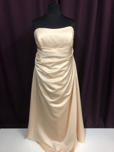 Alfred Angelo Size 26 Tan Strapless Formal Dress