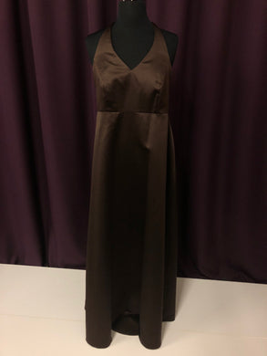 Alfred Angelo Size 4 Brown Long Halter Formal Dress