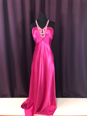 Alfred Angelo Size 4 Pink Bead Formal Dress