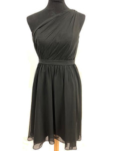 Alfred Angelo Size 6 Black One Shoulder Short Formal Dress