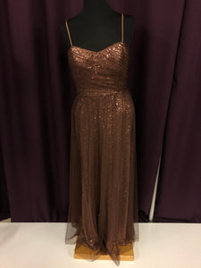 Alfred Angelo Size 8 Brown Gold Sequin Formal Dress