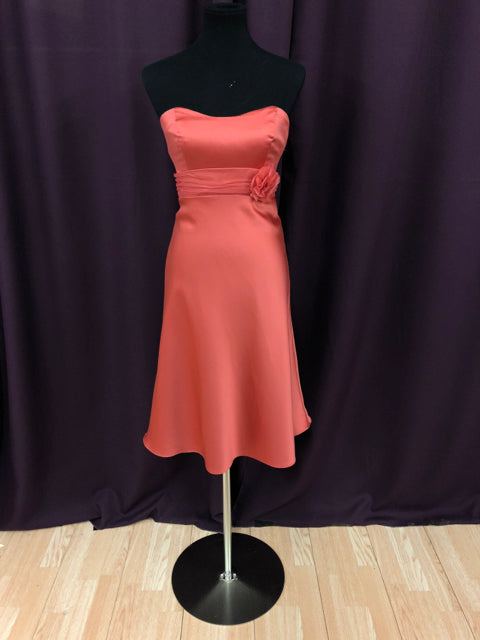 Alfred Angelo Size 8 Orange Formal Dress Bride To Be Consignment