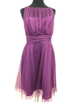 Alfred Angelo Size 8 Purple Short  Tulle Formal Dress
