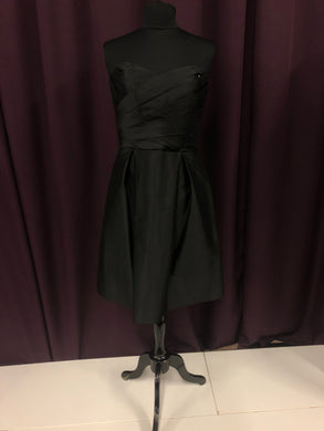 Alfred Sung Size 10 Black Short  Strapless Formal Dress