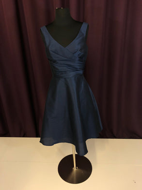 Alfred Sung Size 4 Navy Blue Short  Formal Dress