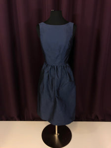 Alfred Sung Size 4 Navy Blue Straps  Short Rushing Formal Dress