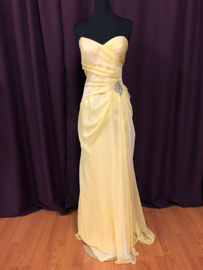 Alice Size 12 Yellow Formal Dress