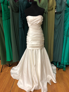Allure Bridal Size 14 Ivory Ruching Wedding Dress