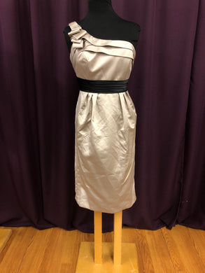 Allure Size 10 Brown Belt  Rushing Strapless Formal Dress