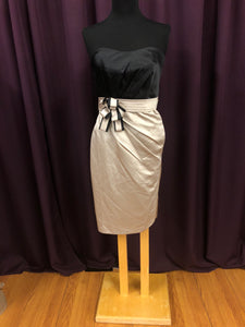 Allure Size 10 Gray Bow Formal Dress