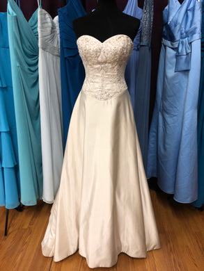 Allure Size 10 Ivory Bead Sequin Wedding Dress