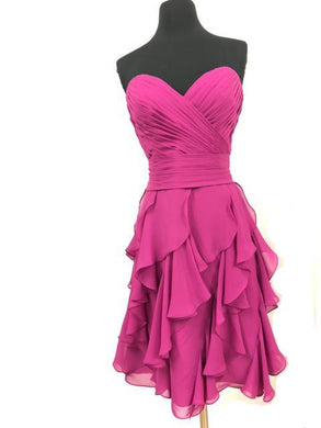 Allure Size 10 Pink Short  Ruffle Formal Dress
