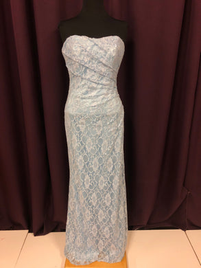 Allure Size 12 Blue Lace Sequin NEW Formal Dress