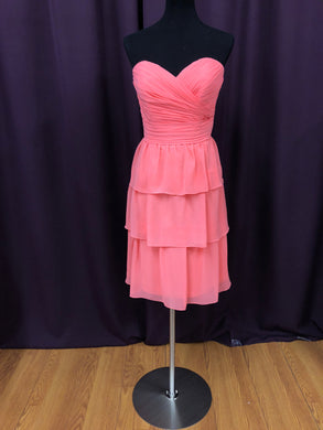 Allure Size 12 Coral Rushing  Ruffle Formal Dress