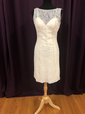 Allure Size 12 Ivory Formal Dress