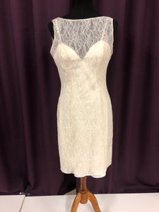 Allure Size 12 Ivory Lace NEW Formal Dress