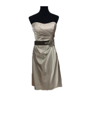 Allure Size 14 Gray Flower Sequin Formal Dress