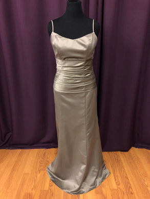 Allure Size 14 Green Strapless Formal Dress