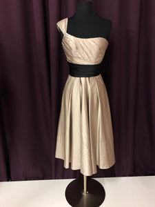 Allure Size 2 Gray One Shoulder Formal Dress