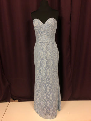 Allure Size 8 Blue Lace Bead Formal Dress
