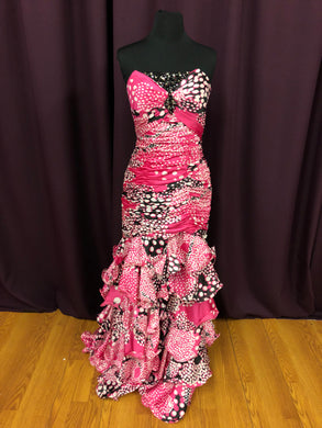 Alyce Size 6 Pink Rhinestone Formal Dress
