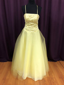 Alyce Size 8 Yellow Bead Sequin Formal Dress