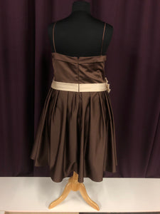 Andrew Adella Size 28 Brown Formal Dress