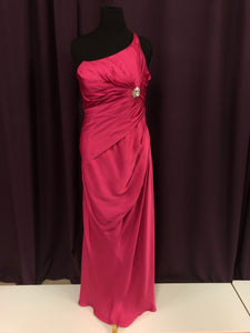 Angelina Faccenda Size 18 Pink Long One Shoulder Formal Dress