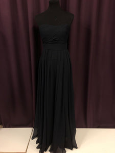Angelina Faccenda Size 8 Navy Blue Strapless Formal Dress