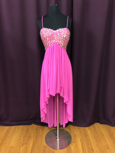 B Darlin Size 12 Pink Rhinestone As Is Formal Dress