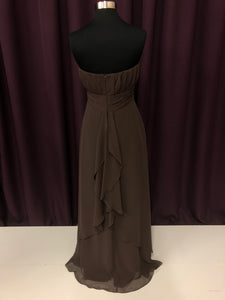 B2 Size 10 Brown Long Rushing Formal Dress