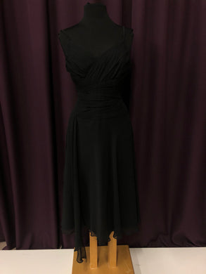 B2 Size 12 Black Rushing  Formal Dress