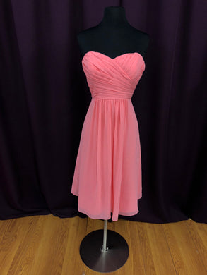 B2 Size 8 Coral Rushing  Strapless Short Formal Dress