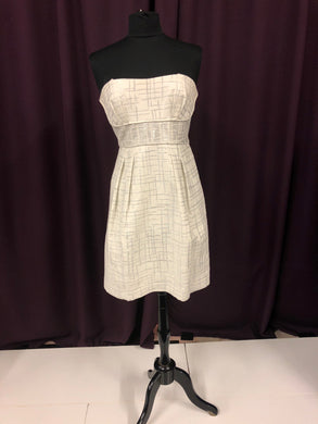 BCBG Size 12 White Formal Dress