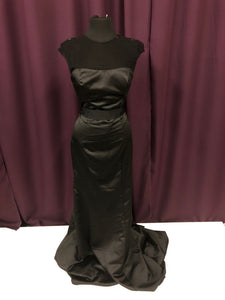 Badgley Mischka Size 8 Black Rhinestone Formal Dress