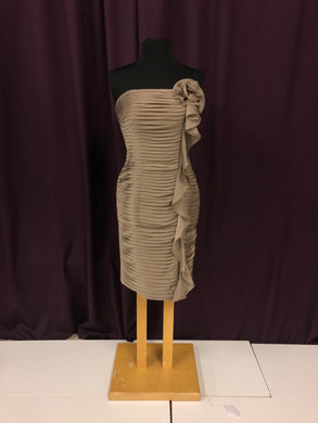 Bari Jay Size 10 Brown Rushing  Short Flower Formal Dress